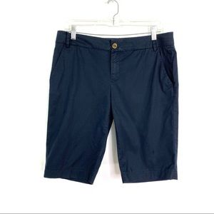 Tory Burch Navy Bermuda Shorts